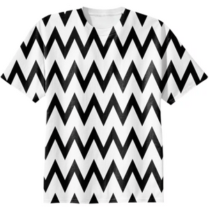 Black and White Geometric Waves pattern - ARTPICS