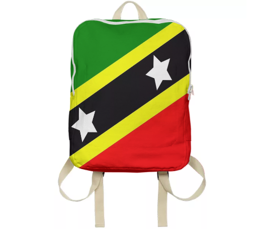 Flag of Saint Kitts and Nevis BACKPACK - ARTPICS