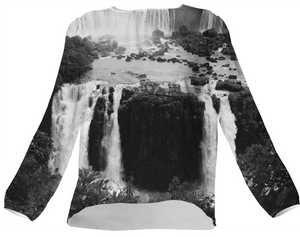 Black and white Iguazu waterfalls - ARTPICS