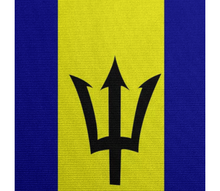 Flag of Barbados POLYESTER SPANDEX - ARTPICS