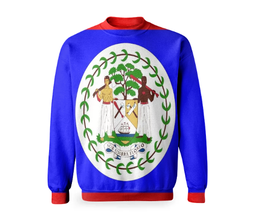 Flag of Belize BASIC SWEATSHIRT - ARTPICS