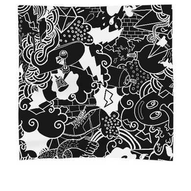 Black and White Urban Graffiti pattern