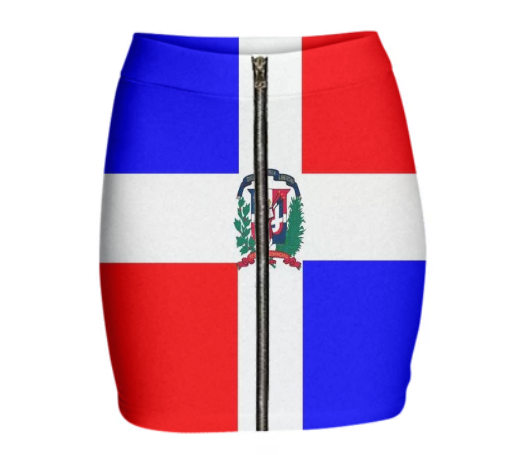 Flag of Dominican Republic GABRIEL HELD NEOPRENE MINI ZIP SKIRT - ARTPICS