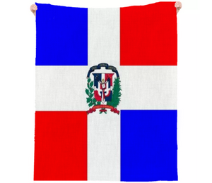 Flag of Dominican Republic LINEN BEACH THROW - ARTPICS