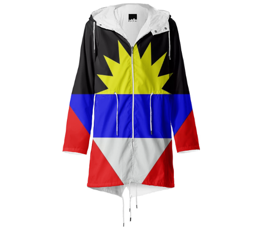 Flag of Antigua and Barbuda RAINCOAT - ARTPICS