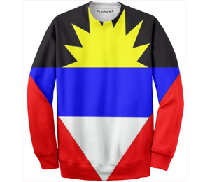 Flag of Antigua and Barbuda COTTON SWEATSHIRT - ARTPICS