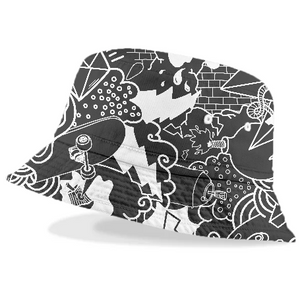 Black and White Urban Graffiti pattern - ARTPICS