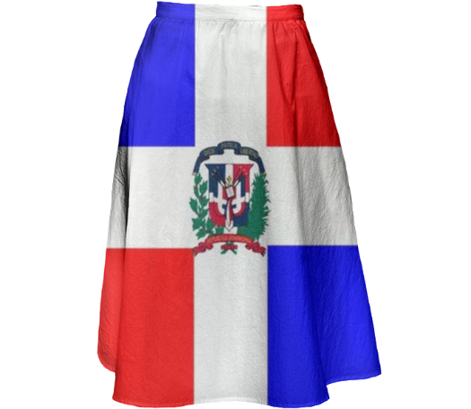 Flag of Dominican Republic MIDI SKIRT - ARTPICS