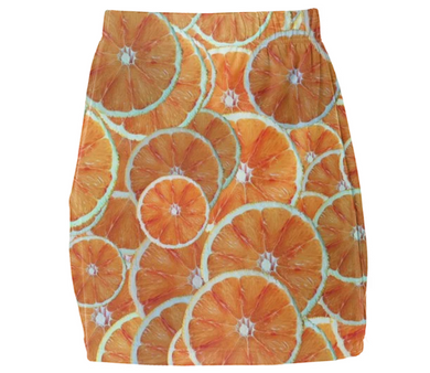 Orange slice fruit pattern