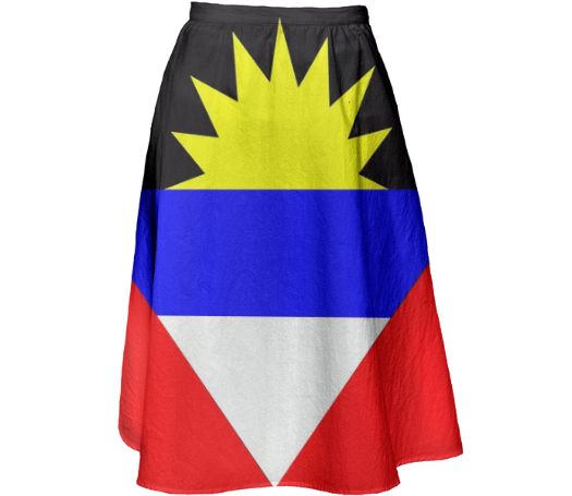 Flag of Antigua and Barbuda MIDI SKIRT - ARTPICS