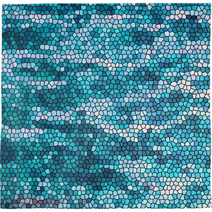 Blue and White Aqua Mosaic tile pattern - ARTPICS