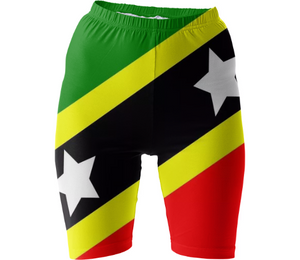 Flag of Saint Kitts and Nevis BIKE SHORTS - ARTPICS