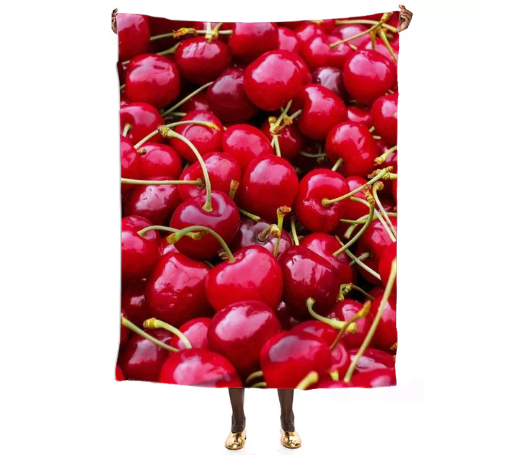 Fresh and delicious fruity red cherries fruit food pattern - ARTPICS