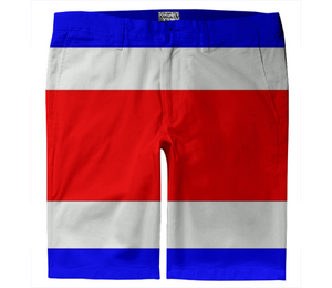 Flag of Costa Rica TROUSER SHORTS - ARTPICS