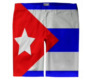 Flag of Cuba TROUSER SHORTS - ARTPICS