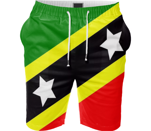 Flag of Saint Kitts and Nevis SUMMER SHORT - ARTPICS