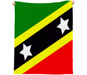 Flag of Saint Kitts and Nevis LINEN BEACH THROW - ARTPICS