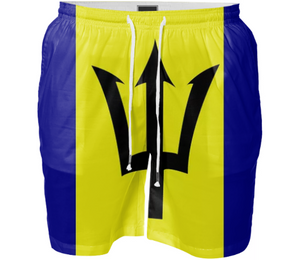 Flag of Barbados SWIM SHORT - ARTPICS