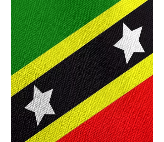 Flag of Saint Kitts and Nevis RAYON TWILL - ARTPICS