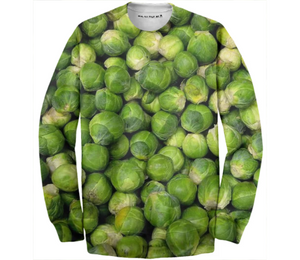 Green brussels sprout vegetable pattern