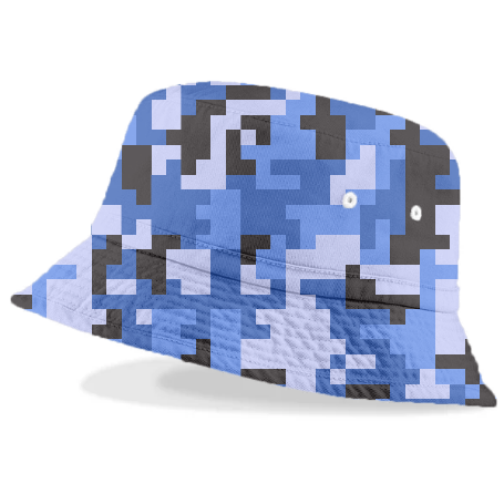 Blue and Black Water Pixel Army Camo pattern - ARTPICS