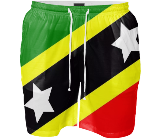 Flag of Saint Kitts and Nevis SWIM SHORT - ARTPICS