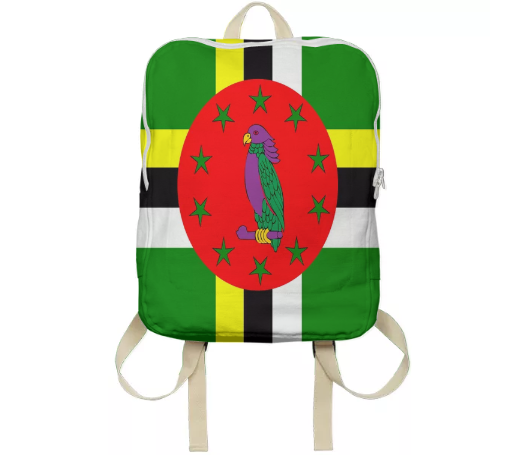 Flag of Dominica BACKPACK - ARTPICS