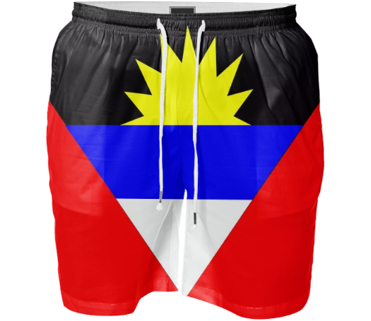 Flag of Antigua and Barbuda SWIM SHORT - ARTPICS