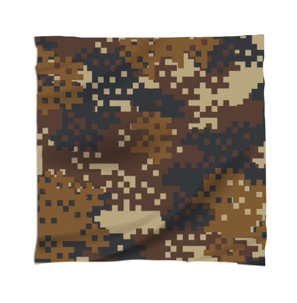 Pixel Brown Army Camo Camouflage pattern - ARTPICS