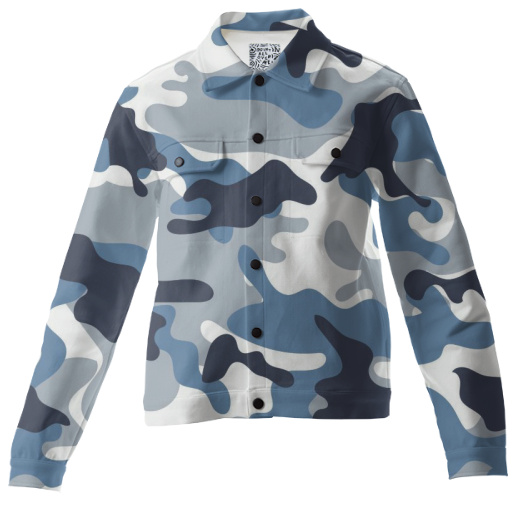 Blue and White Army Camo pattern - ARTPICS