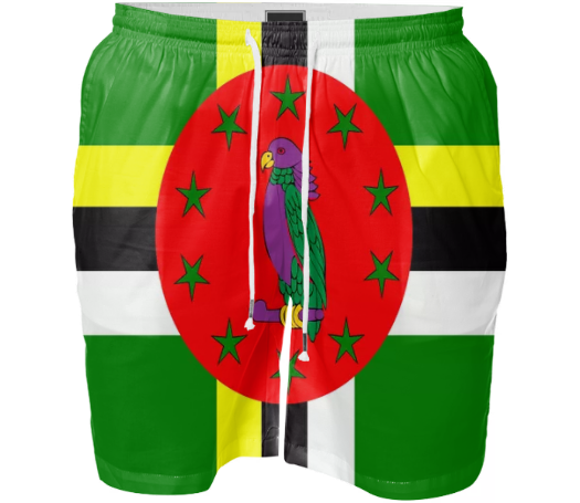 Flag of Dominica SWIM SHORT - ARTPICS