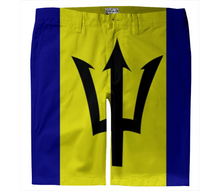 Flag of Barbados TROUSER SHORTS - ARTPICS