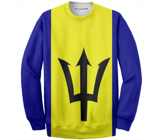 Flag of Barbados COTTON SWEATSHIRT - ARTPICS