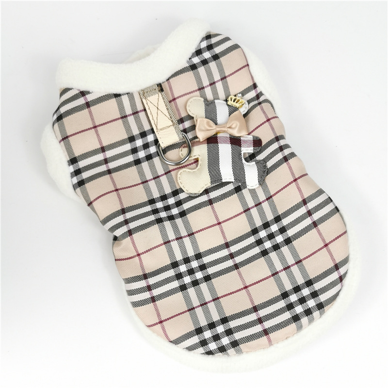 Plaid Bear Harness Coat