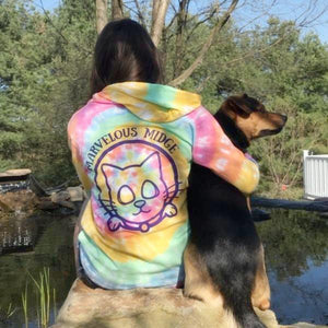 long sleeve pastel tie dye tee