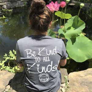 be kind to all kinds grey tee