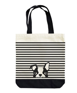 striped dog tote (yes dogs need love too)
