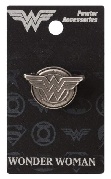 DC Wonder Woman Logo Pewter Lapel Pin
