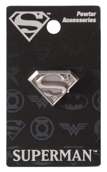 DC Superman Logo Pewter Lapel Pin