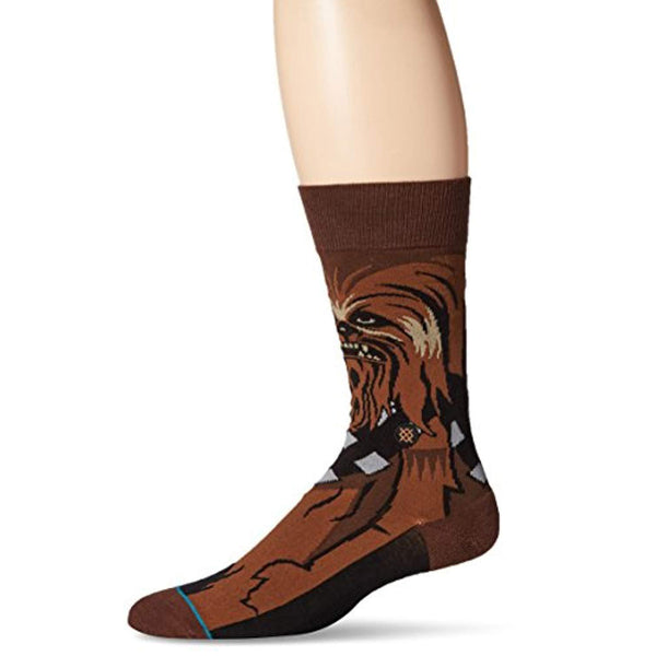 Star Wars Men's Chewie Crew Socks - Vinyl Soundtrack I Am Shark