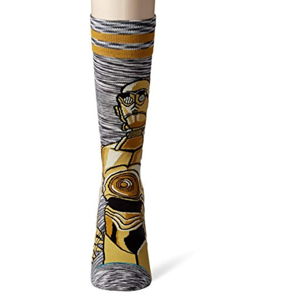 Star Wars Men's C-3PO Android Socks - Vinyl Soundtrack I Am Shark