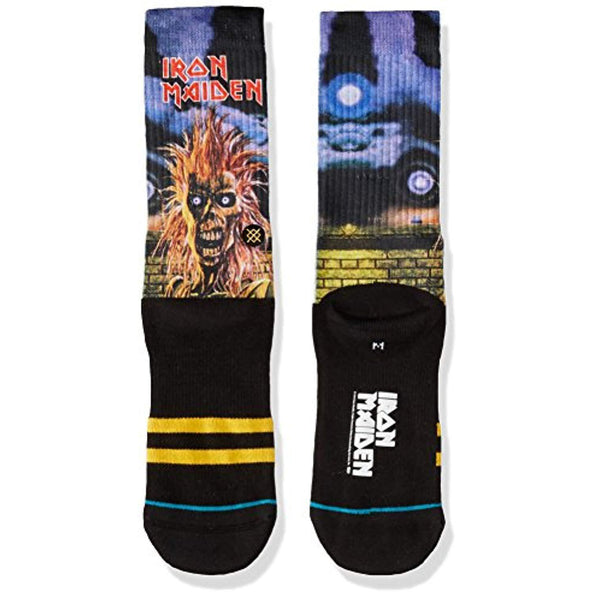 Men's Iron Maiden Crew Sock - Vinyl Soundtrack I Am Shark
