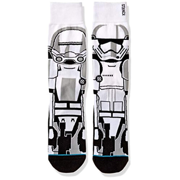 Star Wars Men's Trooper 2 Classic Crew Sock - Vinyl Soundtrack I Am Shark