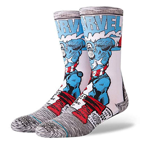Marvel Men's Captain America Comic Socks