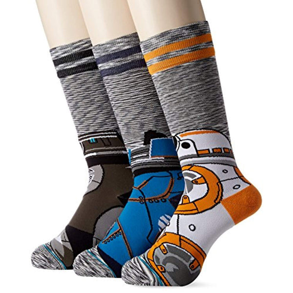 Star Wars Men's Droid Socks 3-Pack - Vinyl Soundtrack I Am Shark