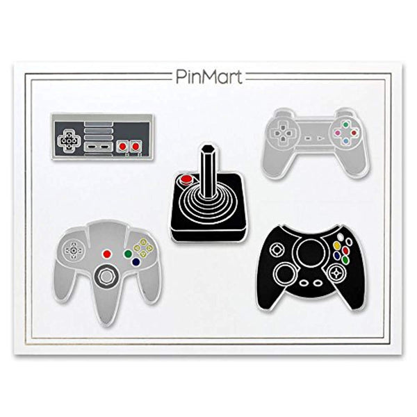 Retro Video Gaming Original Controller Enamel Pin Set
