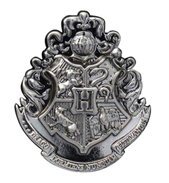 HARRY POTTER Hogwarts School Crest Pewter Lapel Pin