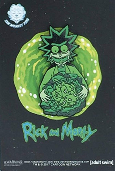 Rick and Morty - Rick's Isotope Glow In The Dark - Enamel Pin