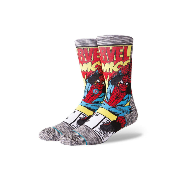 Marvel Men's Spiderman Comic Socks - Vinyl Soundtrack I Am Shark