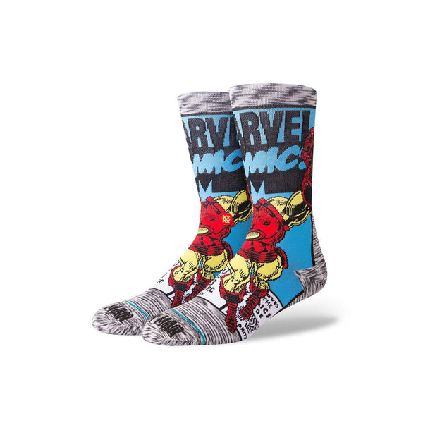 Marvel Men's Iron Man Comic Socks